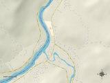 Political Map of Fort Kent, ME Prints