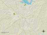 Political Map of Milledgeville, GA Photo