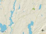 Political Map of Greene, ME Print