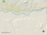 Political Map of Upper Fruitland, NM Prints