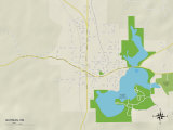 Political Map of Quitman, MS Photo