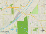 Political Map of Willow Springs, IL Posters
