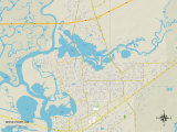 Political Map of Moss Point, MS Posters
