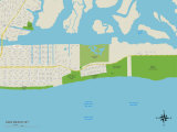 Political Map of Lido Beach, NY Print