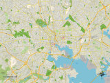Political Map of Baltimore, MD Art
