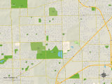 Political Map of Oak Forest, IL Prints