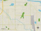 Political Map of Riverdale, IL Prints
