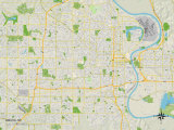 Political Map of Omaha, NE Photo