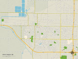 Political Map of West Fargo, ND Prints