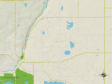 Political Map of Greenfield, MN Posters