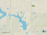 Political Map of Lake Winnebago, MO Posters