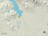 Political Map of Whitefish, MT Prints