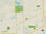 Political Map of Willowbrook, IL Poster