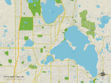 Political Map of White Bear Lake, MN Prints