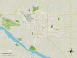 Political Map of Fremont, NE Prints