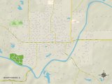 Political Map of Murphysboro, IL Prints
