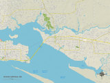 Political Map of Ocean Springs, MS Photo