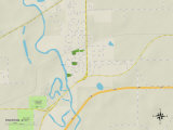 Political Map of Riverton, IL Prints