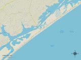 Political Map of Surf City, NC Prints