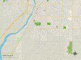 Political Map of Idaho Falls, ID Prints