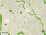 Political Map of Takoma Park, MD Prints