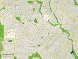 Political Map of Takoma Park, MD Prints