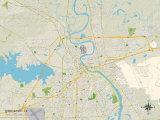 Political Map of Shreveport, LA Posters