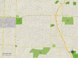 Political Map of Olivette, MO Prints