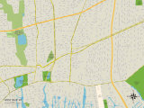 Political Map of West Islip, NY Prints