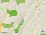 Political Map of Hartsdale, NY Art