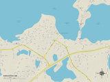 Political Map of Excelsior, MN Prints