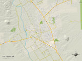 Political Map of Las Cruces, NM Prints