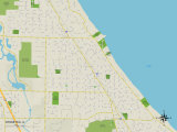Political Map of Winnetka, IL Posters