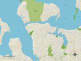 Political Map of Lloyd Harbor, NY Print