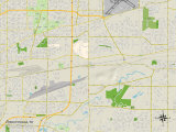Political Map of Cheektowaga, NY Prints