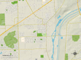 Political Map of Romeoville, IL Print