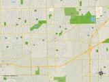 Political Map of Tinley Park, IL Prints