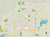 Political Map of Edmond, OK Prints