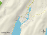 Political Map of Greenwood Lake, NY Prints