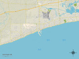 Political Map of Gulfport, MS Photo
