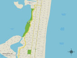 Political Map of Lavallette, NJ Prints