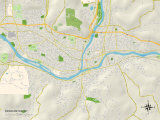 Political Map of Binghamton, NY Print