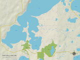 Political Map of East Gull Lake, MN Posters