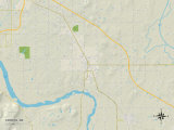 Political Map of Coweta, OK Photo