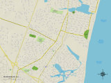 Political Map of Manasquan, NJ Prints