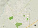 Political Map of Miles City, MT Prints