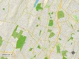 Political Map of Montclair, NJ Prints