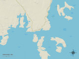 Political Map of Jonesport, ME Posters