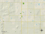 Political Map of Glenpool, OK Prints