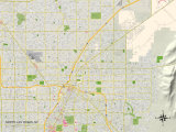 Political Map of North Las Vegas, NV Print